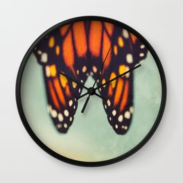Monarch Study #6 Wall Clock