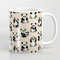 pandas Mugs featuring Pandas by Olya Yang