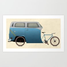 Camper Bike Art Print