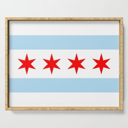 Chicago City Flag Windy City Standard Serving Tray