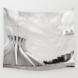 Brasilia's Cathedral | Niemeyer Architect Wall Tapestry