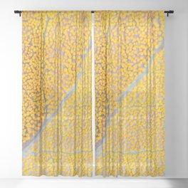 Orange Leaf Veins Sheer Curtain