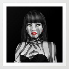 Exotic Lady Art Print