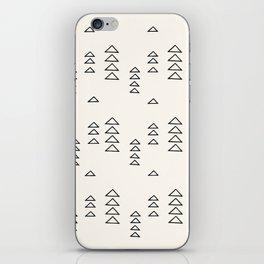 Minimalist Triangle Line Drawing iPhone Skin