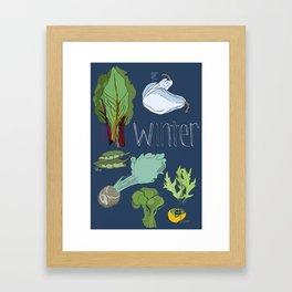 Fresh from the Farmers Market: Winter Framed Art Print