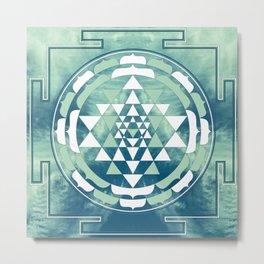Sri Yantra Sky Mandala Metal Print