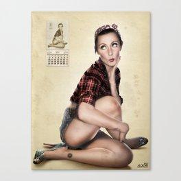 CALENDAR GIRL Canvas Print