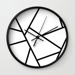 Black and White Fragments - Geometric Design I Wall Clock