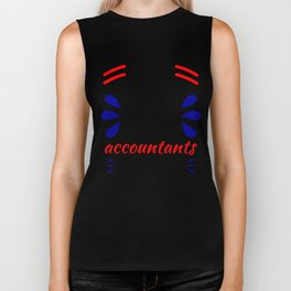 Accountants Can't Count Funny Accounting Design Biker Tank