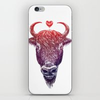 bison iPhone & iPod Skins featuring bison by adi katz