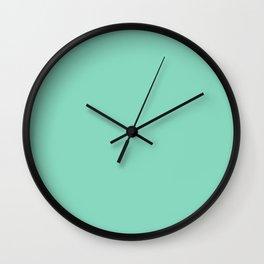 Pearl Aqua Solid Color Block Wall Clock