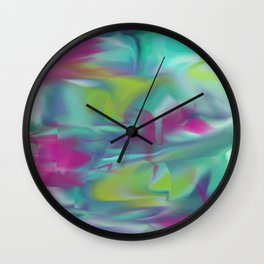 Smooth Paint Splatter design Wall Clock