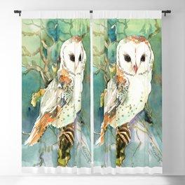 Barn Owl, woodland design owl Blackout Curtain