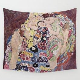 THE VIRGINS - GUSTAV KLIMT Wall Tapestry