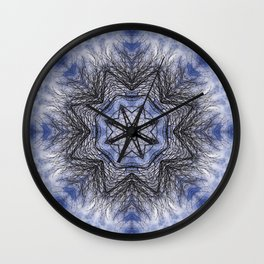 Branches, clouds and sky kaleidoscope Wall Clock