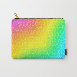 Wiggly Rainbow Gradient Dragon Scale Design! Carry-All Pouch