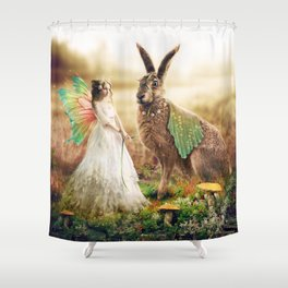 Waiting for the Bridegroom Shower Curtain