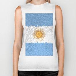 Extruded Flag of Argentina Biker Tank