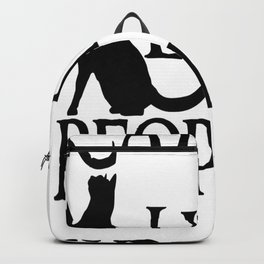 Cats are little people... Backpack