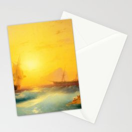 Ivan Aivazovsky - American Shipping off the Rock of Gibraltar Stationery Cards