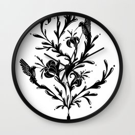 Fluid Bloom Wall Clock