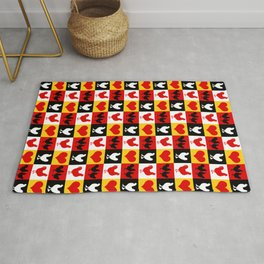 American Poultry Roosters and Hens Rug