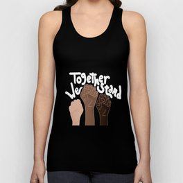 """""""Together We stand""""- Black Unisex Tank Top"""