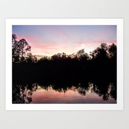 Sunset on the Ponds Art Print