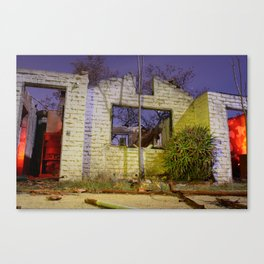 House on Fire Canvas Print