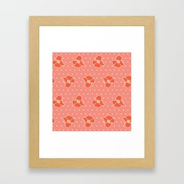 Poppy Pattern Collection - Red Poppy and Dot Framed Art Print
