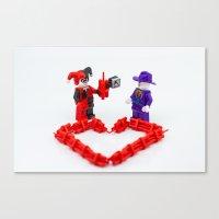 valentines Canvas Prints featuring Valentines by InkBlot