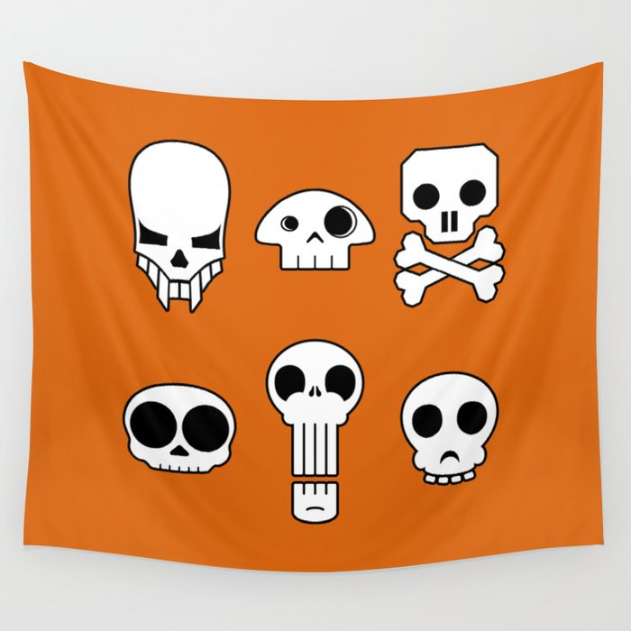 All skulls, all the time. Wall Tapestry