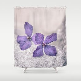 Zen Soft Pastel Purple Clematis Blossom Shower Curtain
