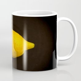 Yellow Lemon On A Black Background #decor #society6 Coffee Mug