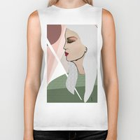 silver Biker Tanks featuring Silver by Kuralay