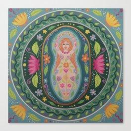 Spring Goddess Mandala Canvas Print