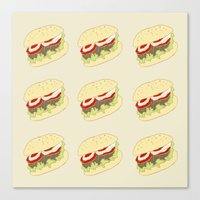 hamburger Canvas Prints featuring Hamburger by Berta Merlotte