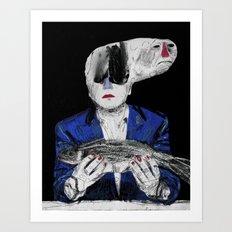 Meditation on a dead fish. 2015. Art Print