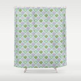 Echeveria pattern Shower Curtain