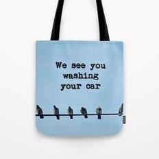 When Pigeons Plan... Tote Bag
