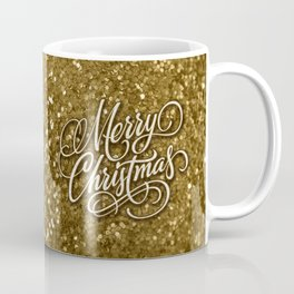 Glitter Gold Xmas Coffee Mug