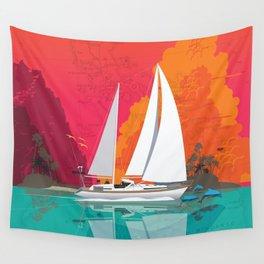 Sailing to Delos Wall Tapestry