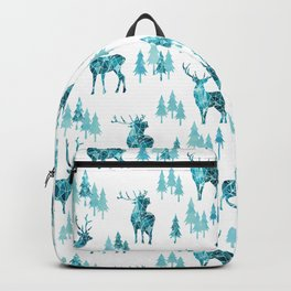 Ice Forest Deer Backpack