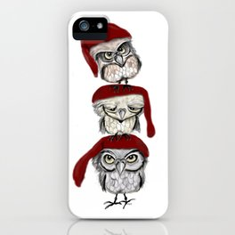 Christmas Owls iPhone Case