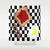 breakfast Shower Curtains featuring Breakfast by Sartoris ART