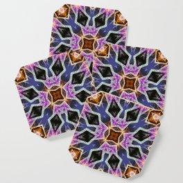 Crystal Diamonds Geometric Mandala Coaster