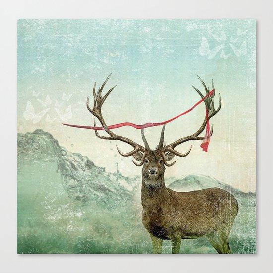 hold deer, tsunami Canvas Print