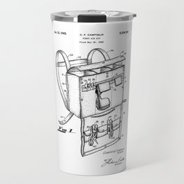 patent art Campiglia First Aid kit 1942 Travel Mug
