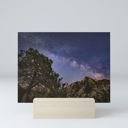 Milky way over Trevenque. Scorpio, Sagitarius and Jupiter.Sierra Nevada National park Mini Art Print