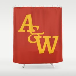 Arts & Wall Letter Logo Shower Curtain